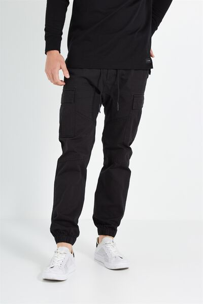 Customised Drake Cuffed Pant, JET BLACK #22