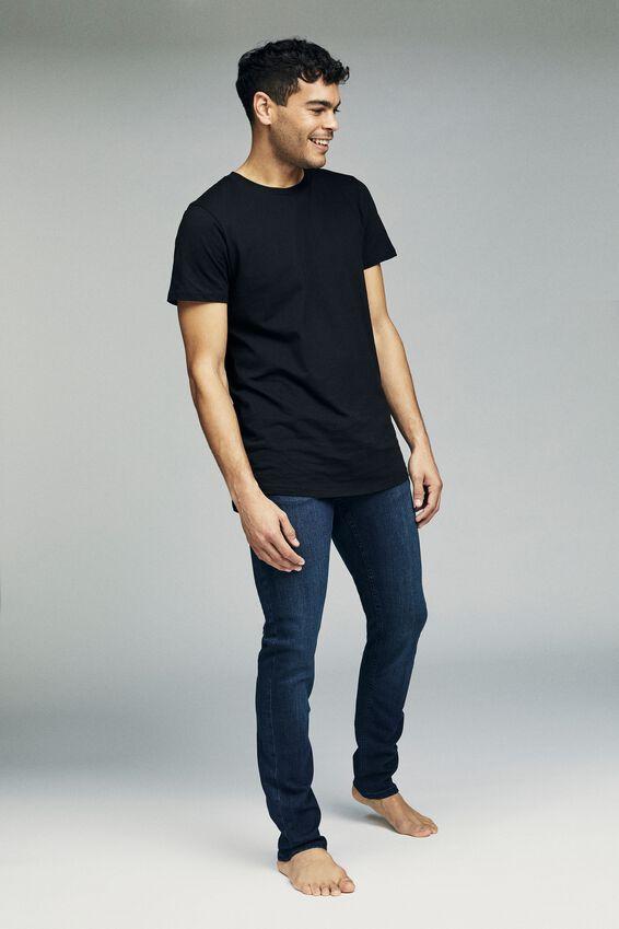 Slim Fit Jean, WASHED BLUE BLACK