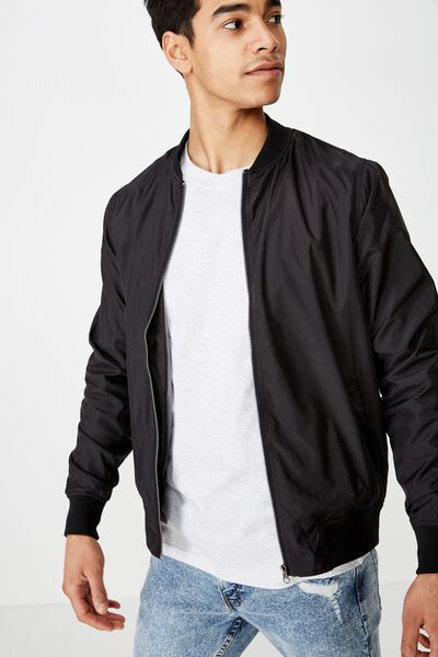 Resort Bomber Jacket, BLACK
