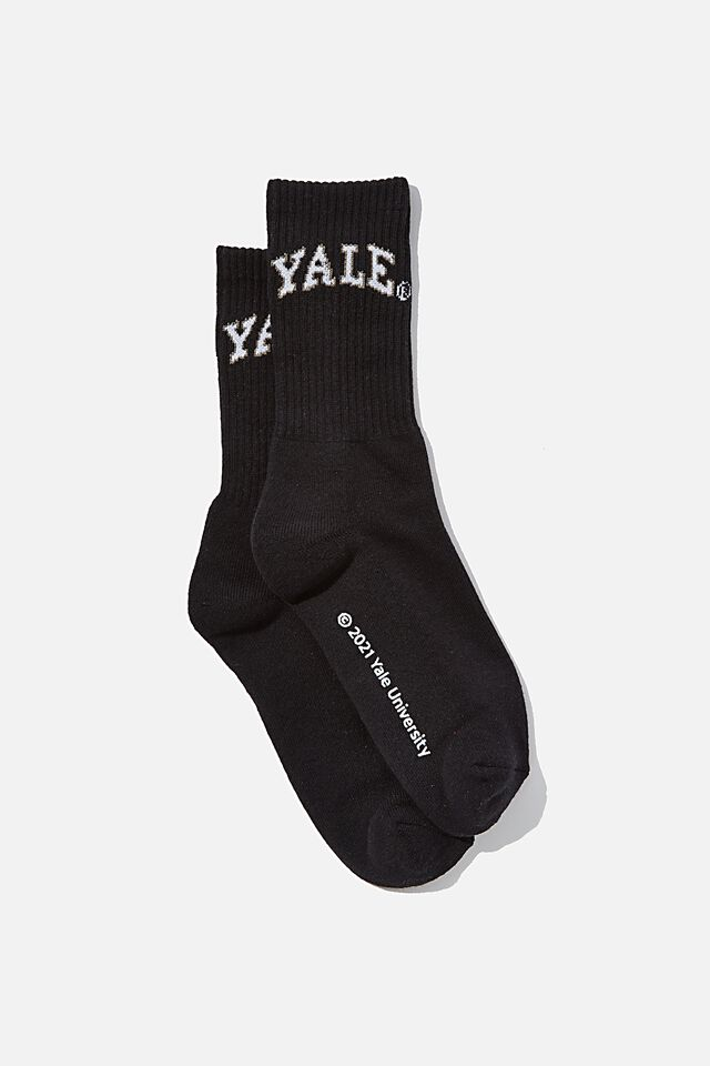 Special Edition Active Sock, LCN YALE/BLACK