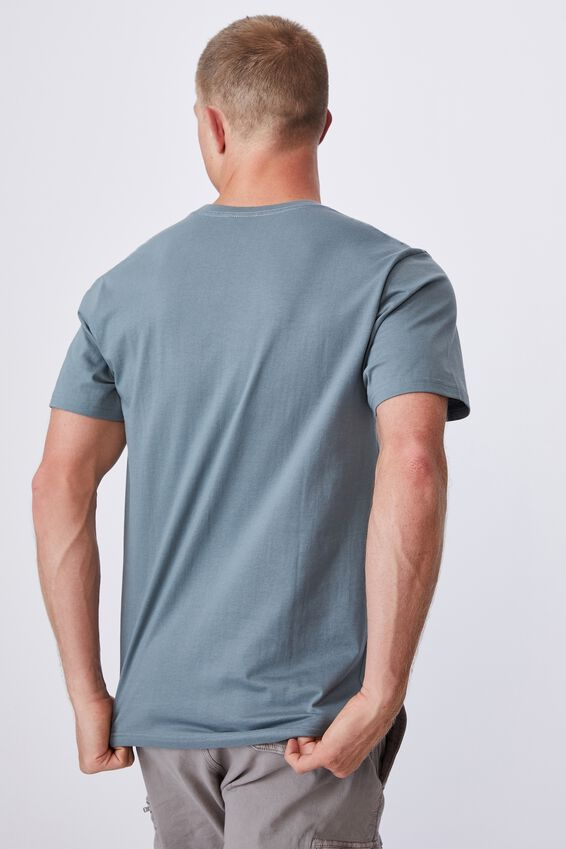 Tbar Text T-Shirt, SMOKEY TEAL/COMPLICATED FEELINGS