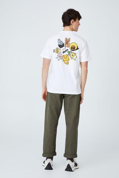 Kakao Friends T-Shirt, LCN KAK WHITE/KAKAO - FRIENDS HELLO