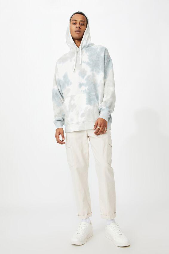 Drop Shoulder Pullover Fleece, SOFT CLOUD TIE DYE