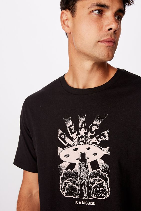 Tbar Art T-Shirt, SK8 BLACK/PEACE IS A MISSION