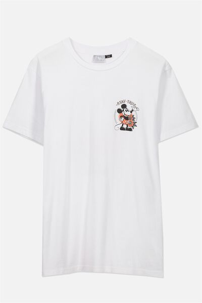 Tbar Collaboration Tee, LC WHITE/MICKEY STAY TRUE