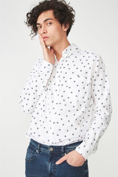 Brunswick Shirt 3, WHITE CIRCLE GEO