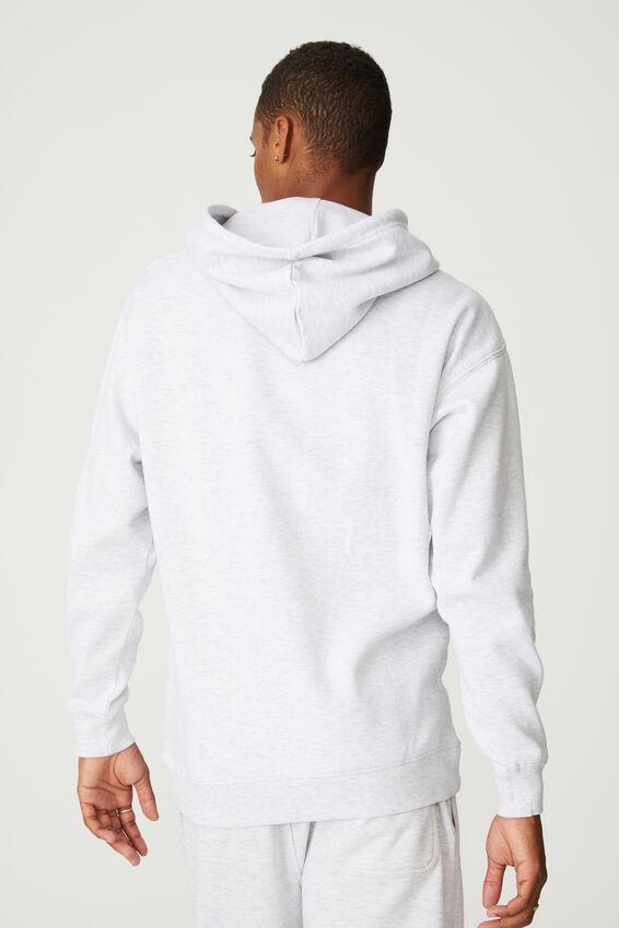 Premium Collab Fleece Pullover, LCN UCLA ATHLETIC MARLE /UCLA ARCHED BLOCK SE