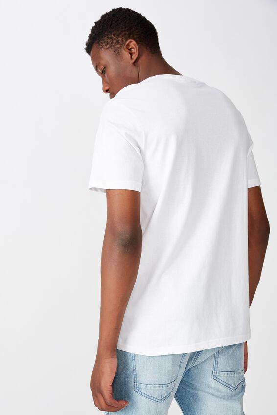 Tbar Text T-Shirt, WHITE/EAST VILLAGE POCKET
