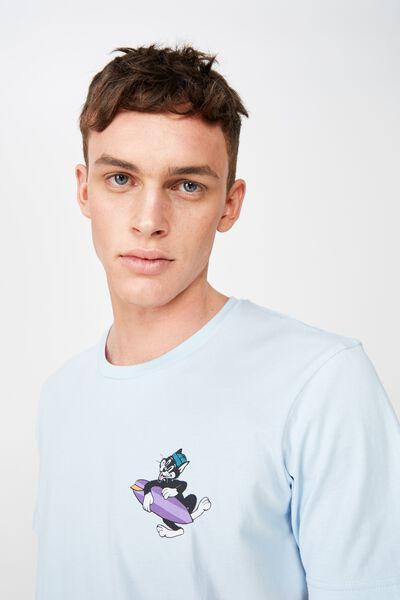 Tbar Art T-Shirt, BLUE MIST/CAT SURFER