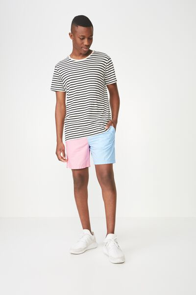 Hoff Short, PASTEL / COLOUR BLOCK