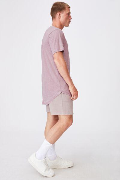 Longline Scoop Burnout T-Shirt, AGED WINE