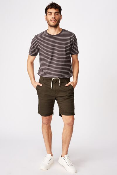 Tailored Casual Short, DARK OLIVE