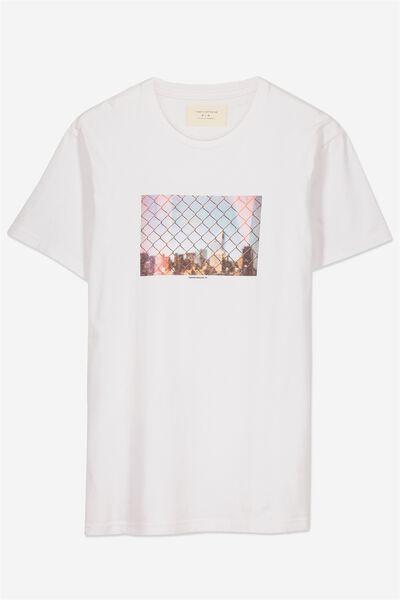 Tbar Tee 2, WHITE/NEW YORK CITY FENCE