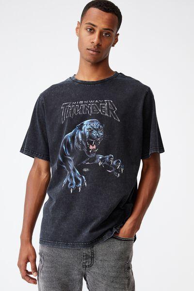 Bondi T-Shirt, WASHED BLACK/HIGHWAY THUNDER