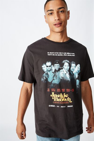 Tbar Collab Movie And Tv T-Shirt, LCN MIR SK8 WASHED BLACK JACKIE BROWN - POSTE