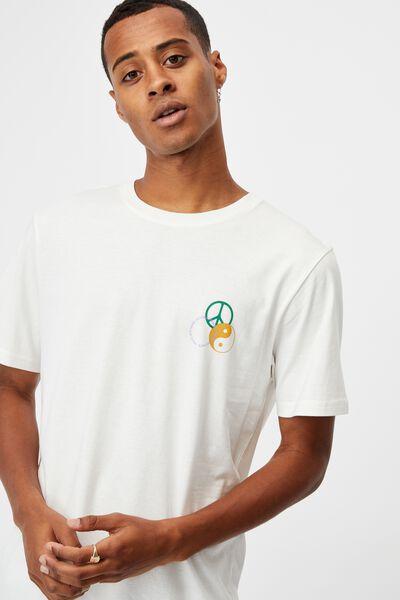 Tbar Art T-Shirt, VINTAGE WHITE/PEACE NO HATE