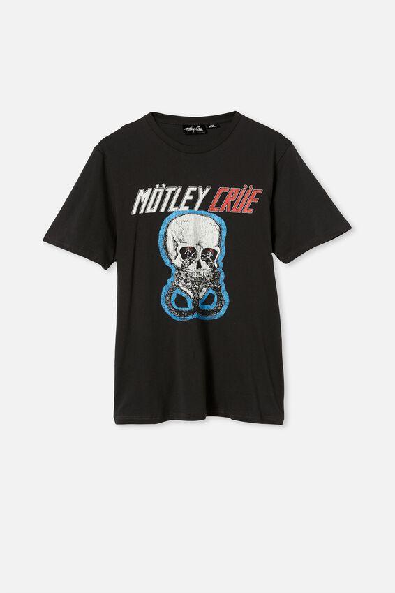 Tbar Collab Music T-Shirt, LCN EP WASHED BLACK/MOTLEY CRUE-SKULL