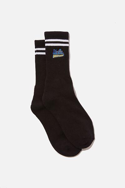 Special Edition Active Sock, LCN UCLA BRUINS/BLACK STRIPE