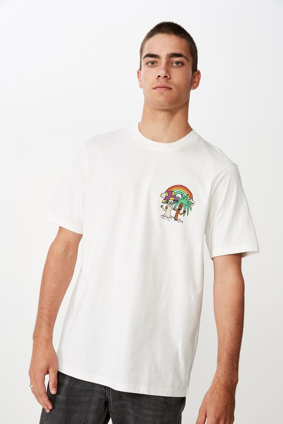 Tbar Art T-Shirt, VINTAGE WHITE/RAINBRO'S
