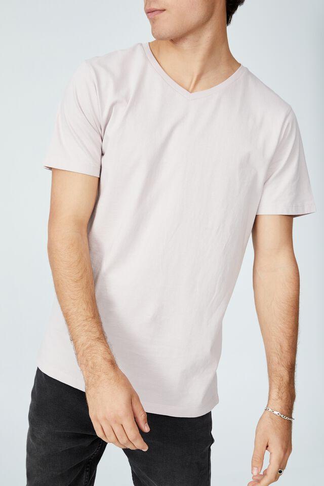 Organic V-Neck T-Shirt, ICED LILAC