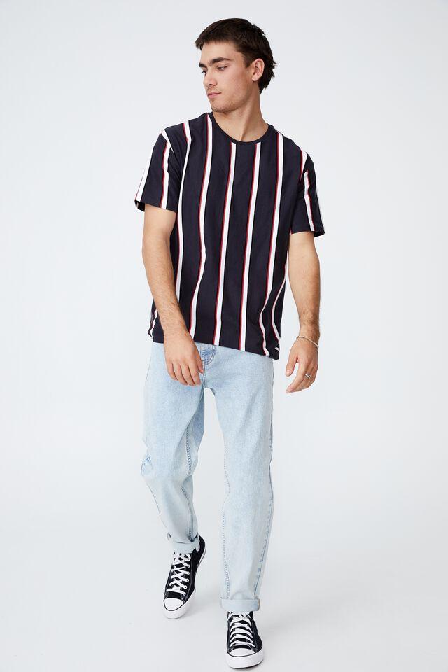Downtown T-Shirt, TRUE NAVY UNION STRIPE