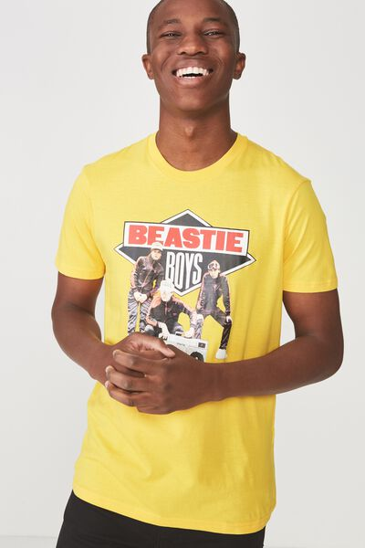 Tbar Collaboration Tee, LC SAFETY YELLOW/BEASTIE BOYS SOLID GOLD