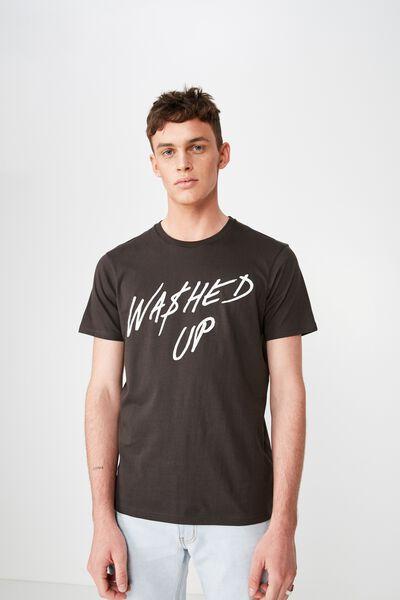 Street T-Shirt, WASHED BLACK/WASHED UP