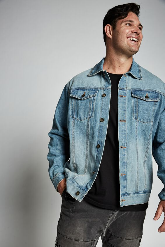 Bg Rodeo Denim Jacket, DISTRESSED BLUE