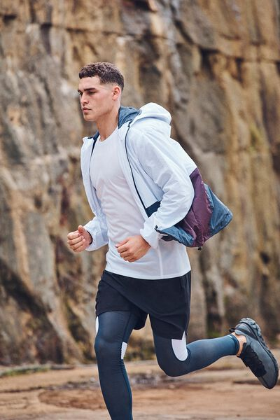 Active Tech Jacket, WHITE/NAVY/RED WINE