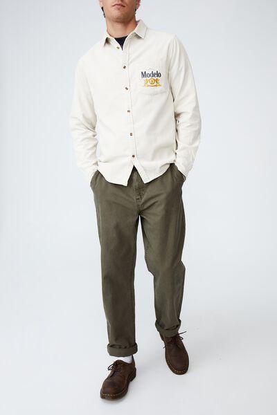 Modelo Long Sleeve Shirt, LCN MOD ECRU CORD