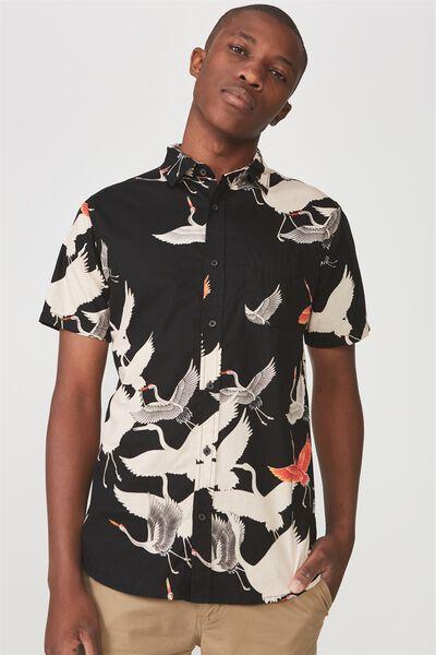 Vintage Prep Short Sleeve Shirt, THE BIRDS