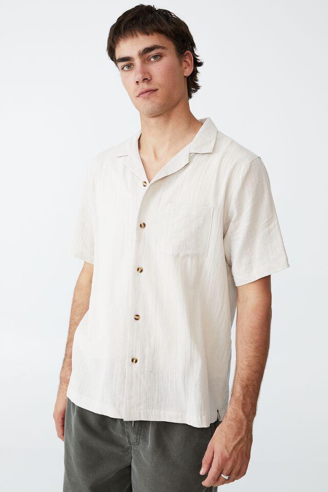 Riviera Short Sleeve Shirt, LIGHT TAUPE