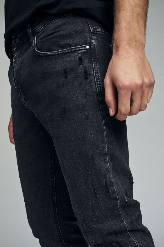 Slim Fit Jean, SHRAPNEL BLACK