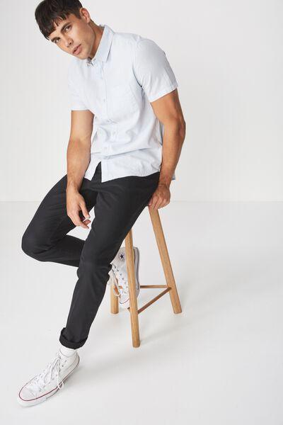 Premium Linen Cotton Short Sleeve Shirt, SKY