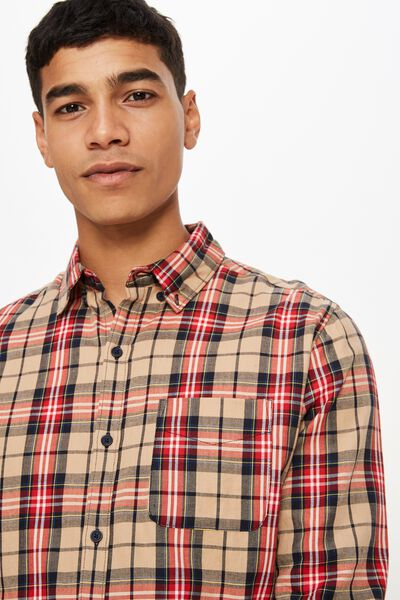 Brunswick Shirt 3, TAN MULTI BOLD CHECK