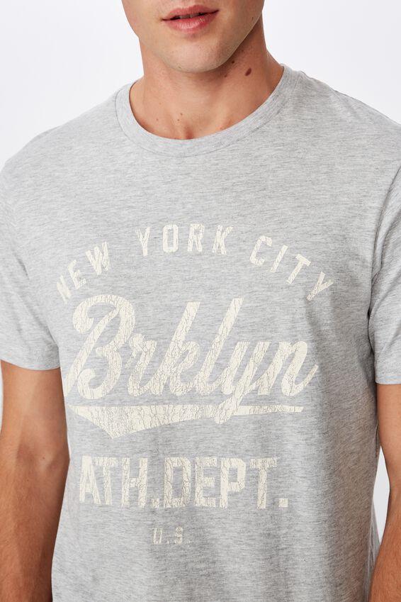 Tbar Sport T-Shirt, GREY MARLE/BROOKLYN ATH.DEPT