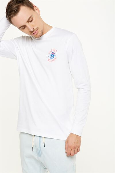 Tbar Long Sleeve, WHITE/PISMO BEACH