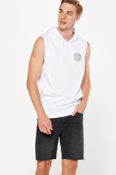 Sleeveless Hood, WHITE/WORLD MOVEMENT