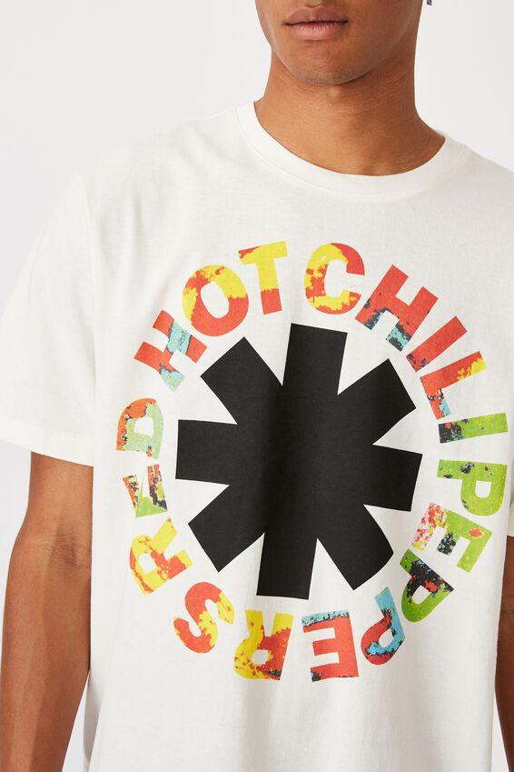 Tbar Collab Music T-Shirt, LCN PRO WHITE/RHCP-TIE DYE LOGO