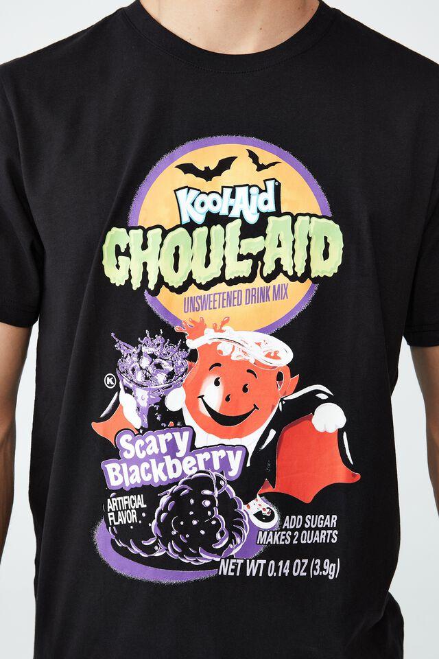 Tbar Collab Pop Culture T-Shirt, LCN KOO BLACK/KOOL AID - GHOUL AID