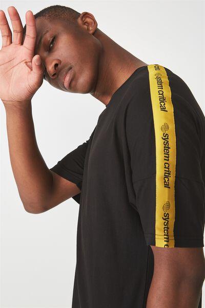 Drop Shoulder Longline, BLACK/SYSTEMS CRITICAL
