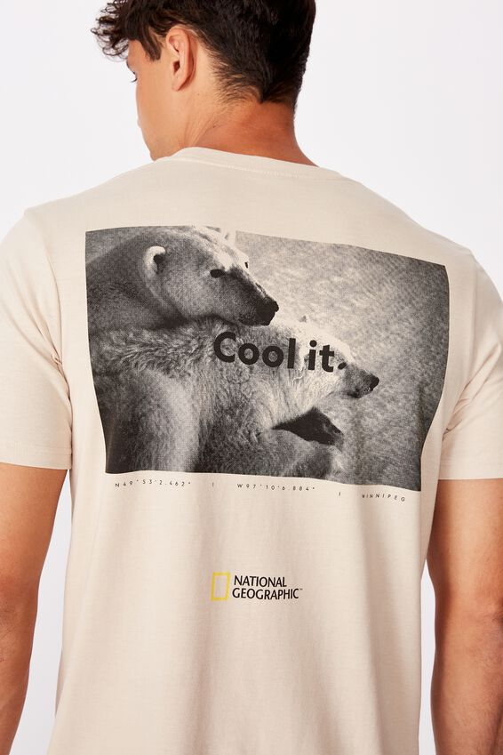 Tbar Collab Pop Culture T-Shirt, LCN NG PEARL/NATIONAL GEOGRAPHIC - POLAR BEARS