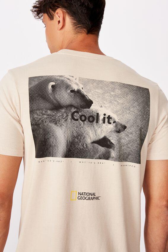 Tbar Collab Pop Culture T-Shirt, LCN NG PEARL NATIONAL GEOGRAPHIC - POLAR BEAR