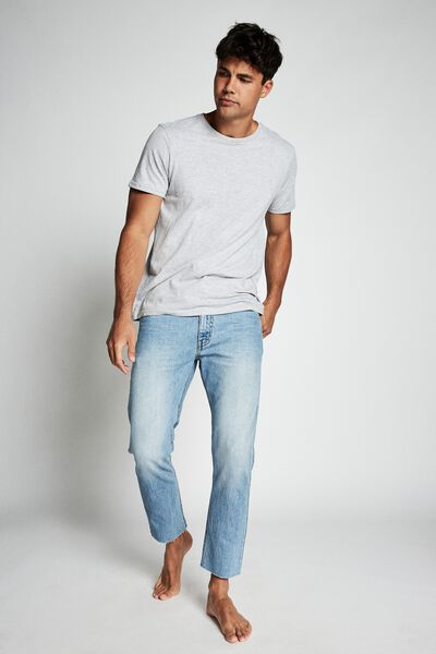 Raw Crop Jean, VINTAGE BLUE