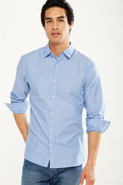 Slim Smart Shirt, BLUE STRIPE