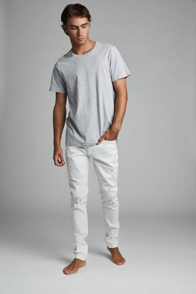 Super Skinny Jean, WHITE BLOWOUT