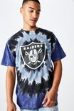 Special Edition T-Shirt, LCN NFL WHITE OAKLAND RAIDERS - TIE DYE