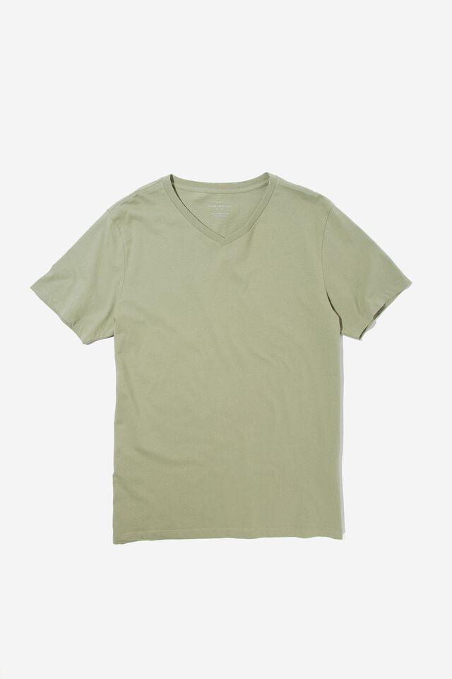 Organic V-Neck T-Shirt, SAGE