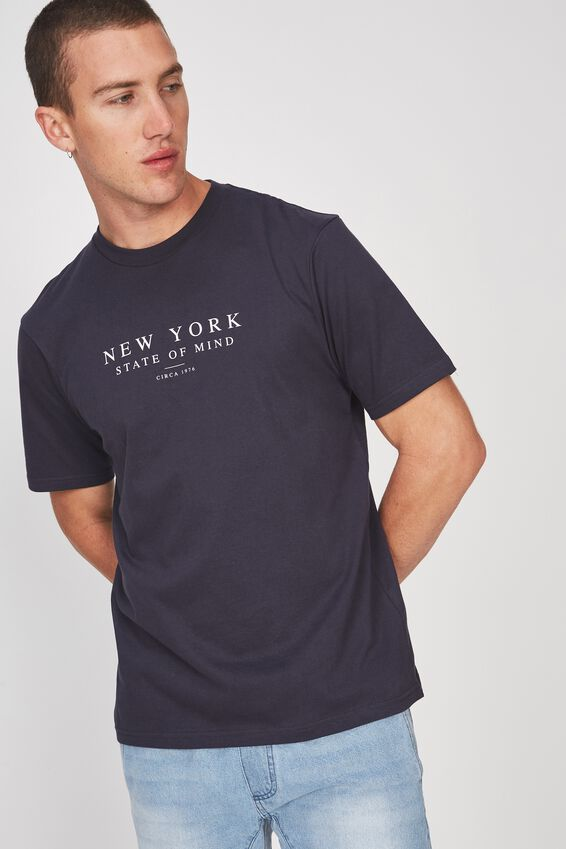 Tbar Tee 2, TRUE NAVY/NY STATE OF MIND
