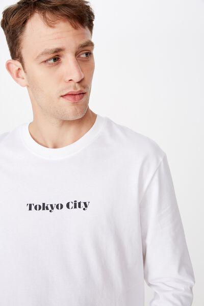 Tbar Long Sleeve, WHITE/TOKYO CITY